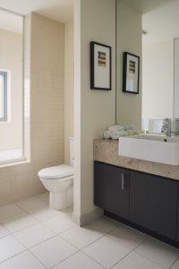 Luxury bathroom in One-bedroom suite at Peppers Moonah Links Resort