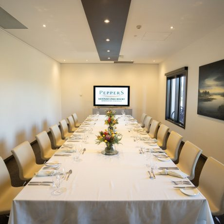 A boardroom layout consists of a single rectangular table that is large enough to seat all the delegates around outside. The proximity to each other will be suitable for delegates to collaborate and discuss. The workshop sessions in smaller groups will be efficient under a boardroom layout.