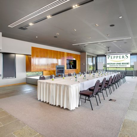 Whether it is corporate or social events, the professional event team at Peppers Moonah Links Resort can ensure everything goes exactly according to your plan