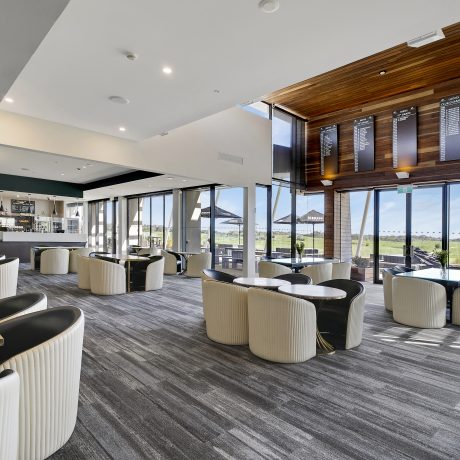 The Spike Bar is open for breakfast, lunch and dinner. Guests have the luxury to enjoy the beautiful fairway views while enjoying meals on the Terrace.