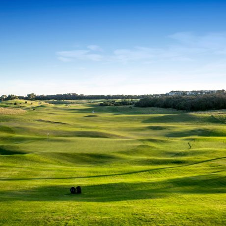 Panoramic views of the rolling greens at